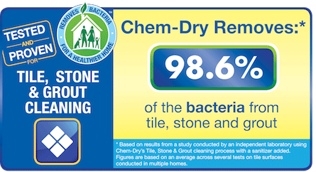 Chem-Dry of Yuma County removes 98.6% of the bacteria from tile, stone, and grout!