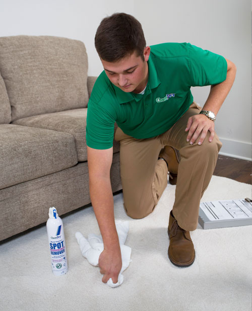 Chem-Dry of Yuma county's technician removes specialty stain from carpet